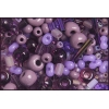 Seedbead Bugles Ponybead Assorted Purple